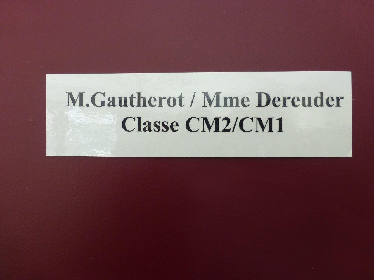 Classe M. Gautherot  (1)