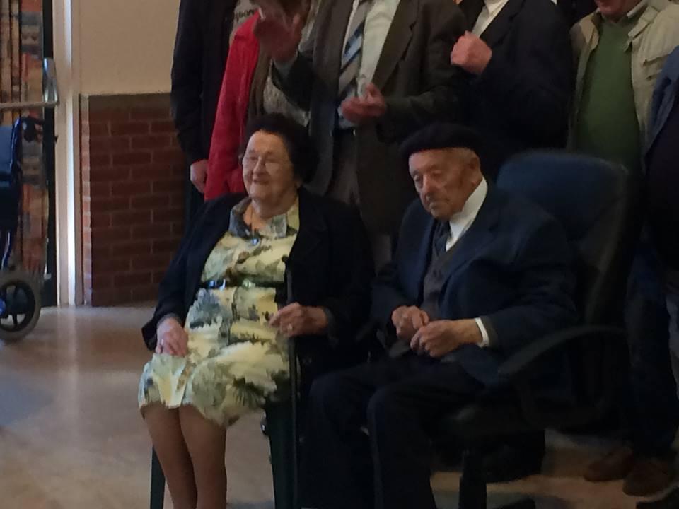 Mr Edmond Cocquempot et sa soeur Marie-Thérèse (96 ans)