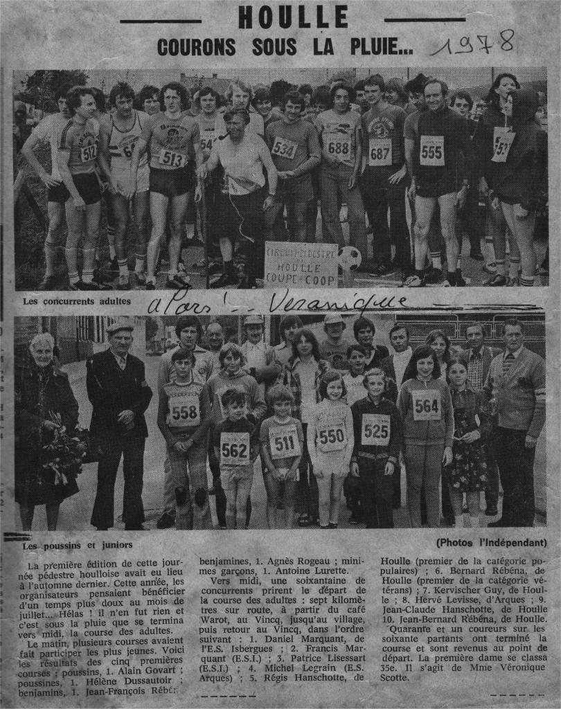 HOULLE 1er 7kmsde Houlle en 1978