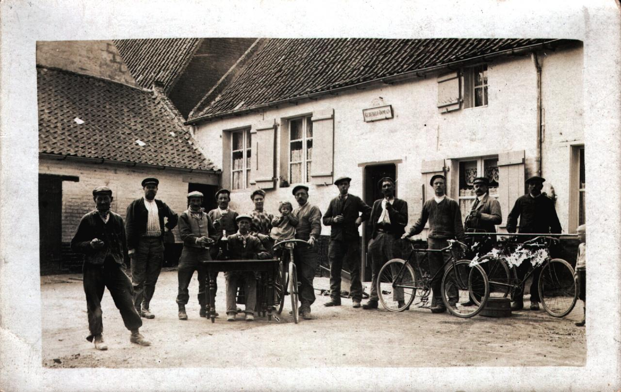HOULLE Café Rebergue-Domain 1922 original