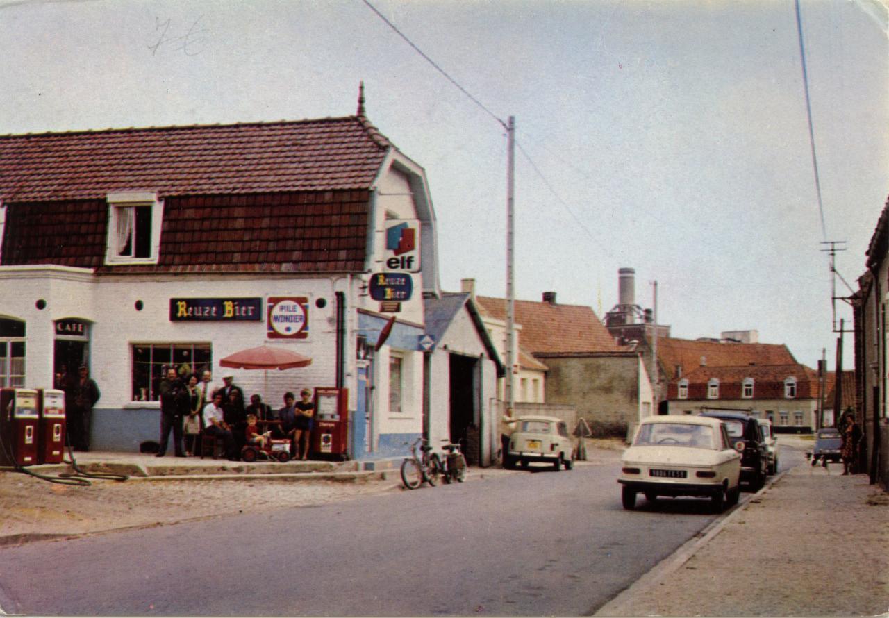Houlle le café tabac Vandewielle en 1965