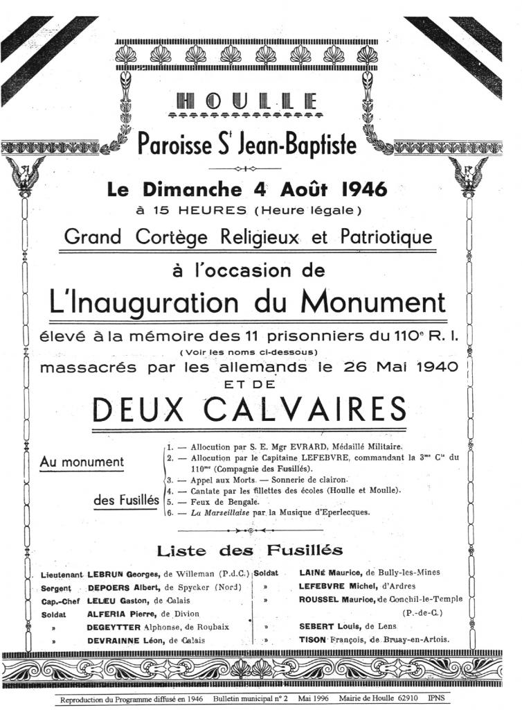 HOULLE PROGRAMME 1946_1