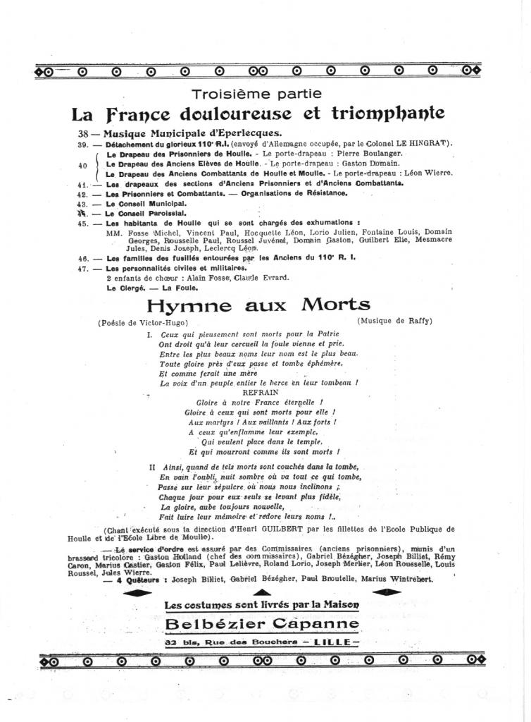 HOULLE PROGRAMME 1946_4