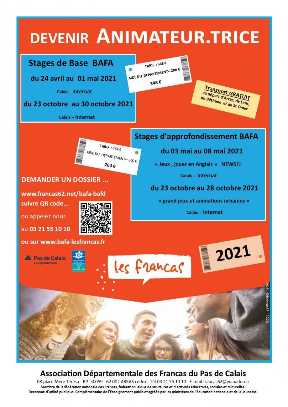 Affiche bafa bafd 2021 pub