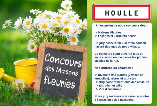Affiche maisons fleuries