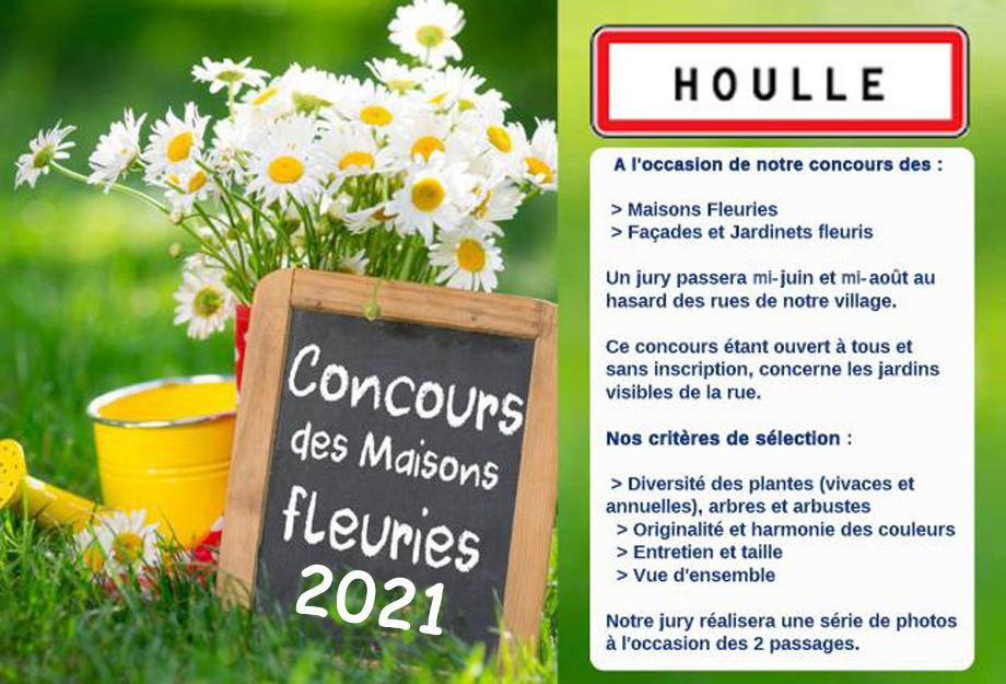 Affiche maisons fleuries houlle 2021