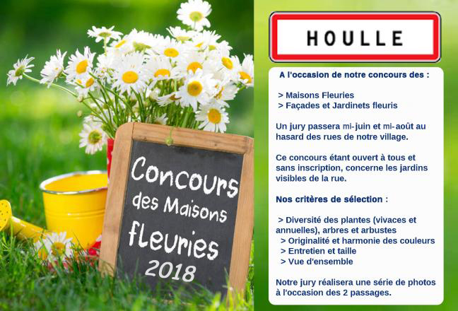 Affiche maisons fleuries houlle