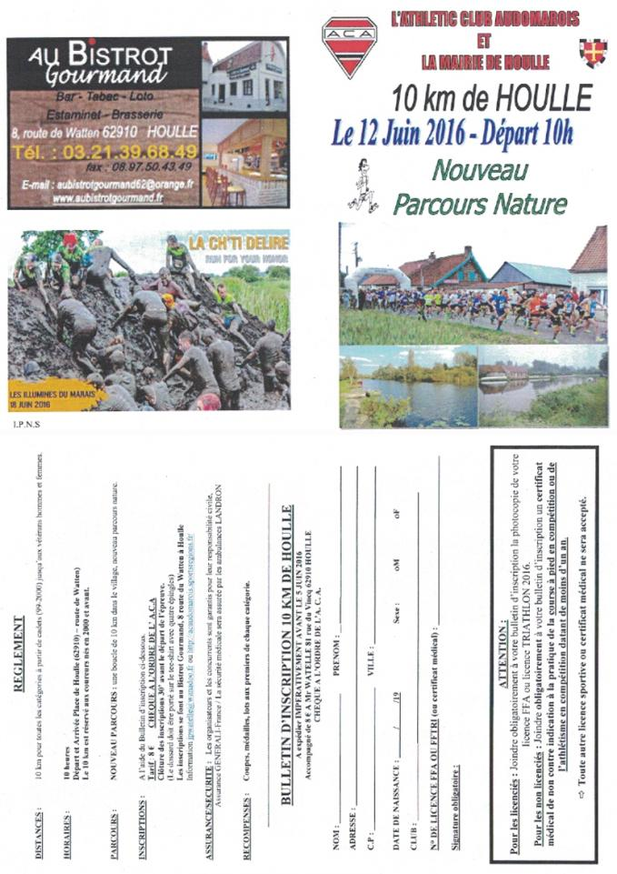 Bulletin inscription 10 km houlle