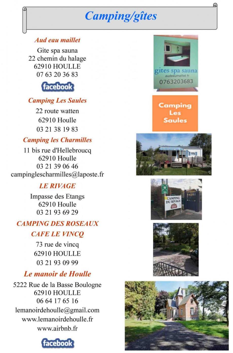 Campings gites