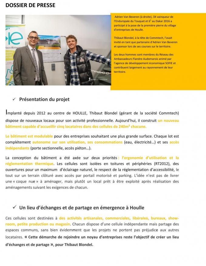 Dossier de presse 1re pierre village entreprises houlle 3