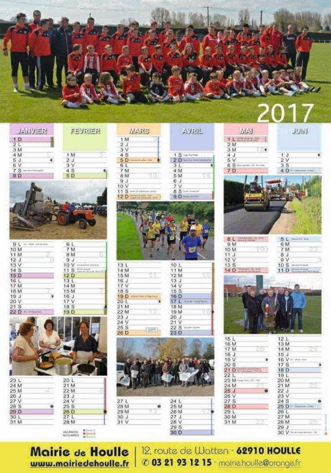 Houlle calendrier 2017 1