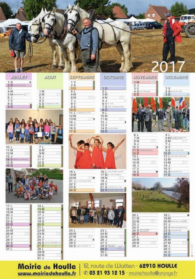 Houlle calendrier 2017 2