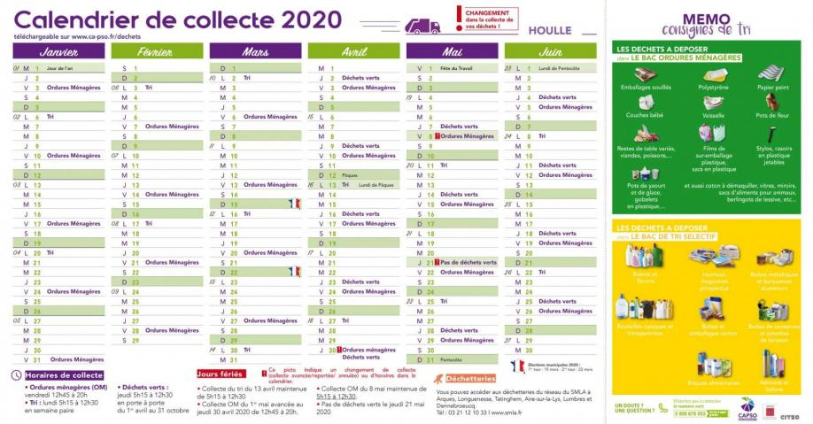 Houlle calendrier collecte 1