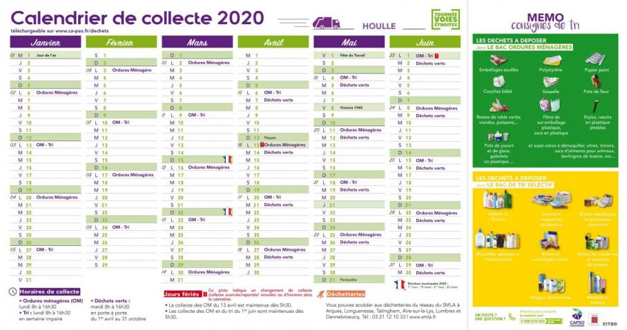 Houlle calendrier collecte pc 1