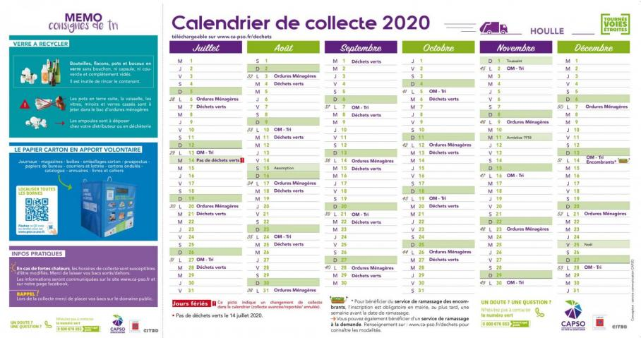 Houlle calendrier collecte pc 2