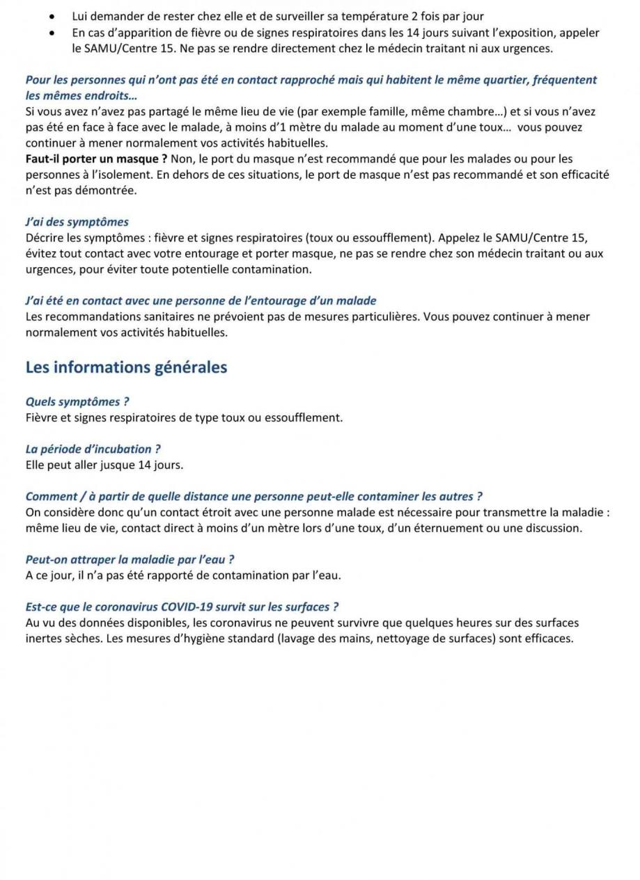 Information ars coronavirus covid 19 2