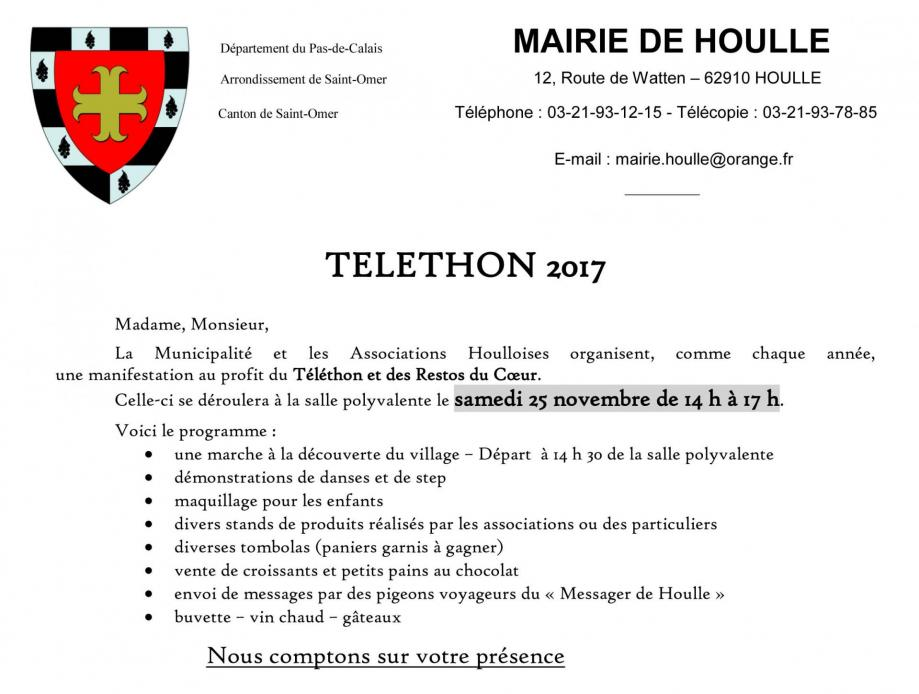 Invitation telethon 2017