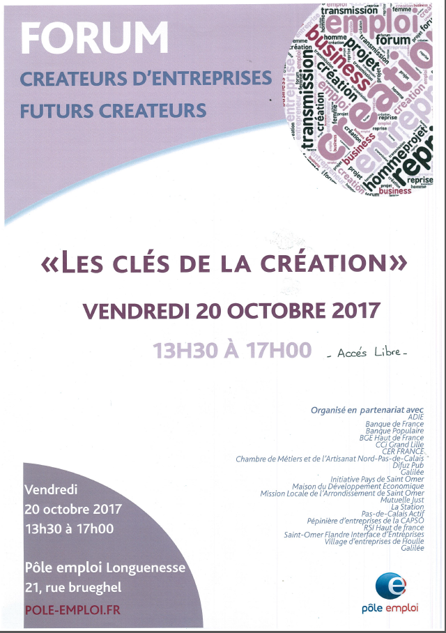 Les cles de la creation affiche
