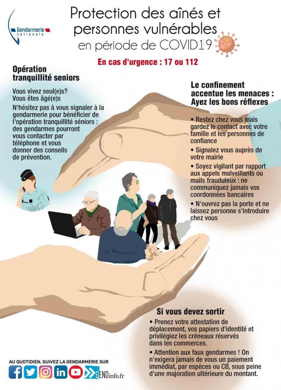Operation serenite cadre prevention seniors