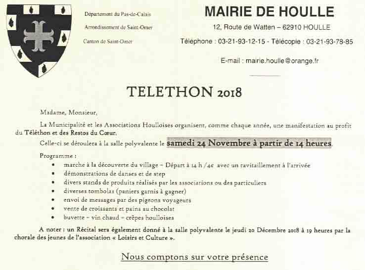 Telethon 2018 houlle