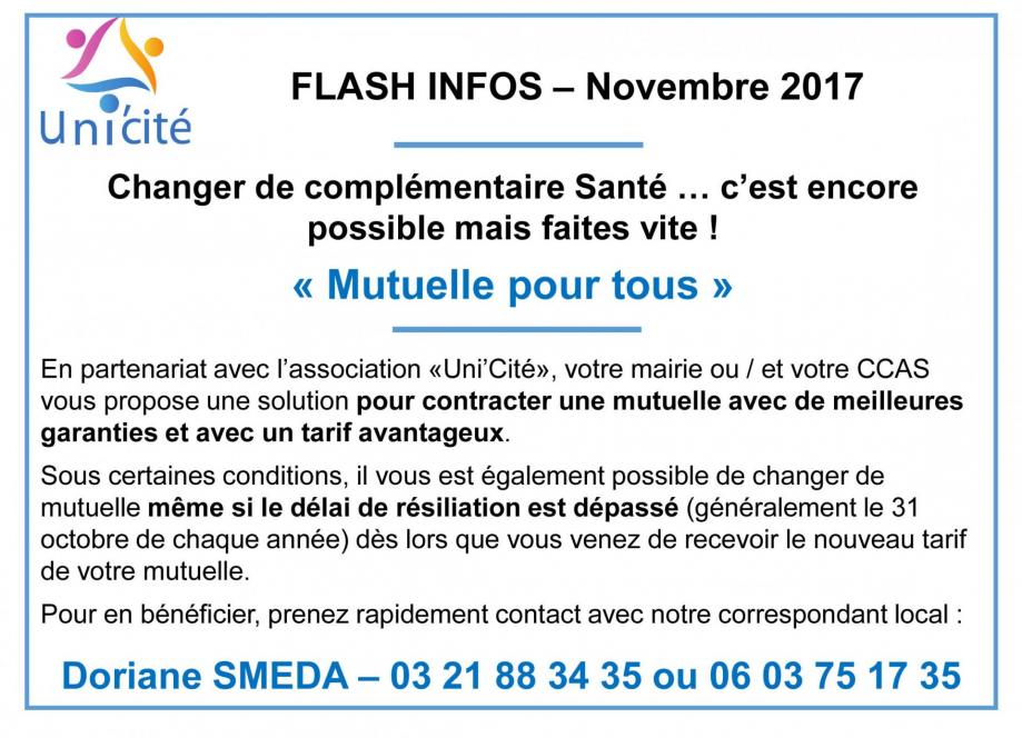 Unicite flash infos 2017
